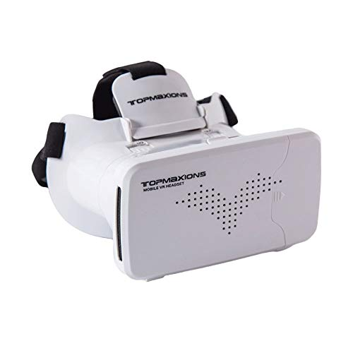 Virtual Reality Headset, 3D VR Glasses for Mobile Games and Movies, Compatible 4.7-6.2 inch iPhone/Android Phone, Including iPhone XS/X/8/8Plus/7/7Plu - OPTOSLON