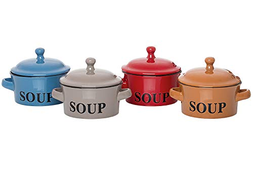 Flirt by R&B 798.692 Suppentasse, Mehrfarbig, 4 Stück, 0,46 l, Keramik, Suppe, 4 Stück
