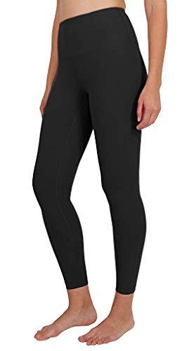 Yogalicious High Waist Ultra Soft Lightweight Leggings - High Rise Yoga Pants - Black Lux 25' - XS