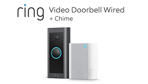 Introducing Ring Video Doorbell Wired + Chime by Amazon   HD Video,...
