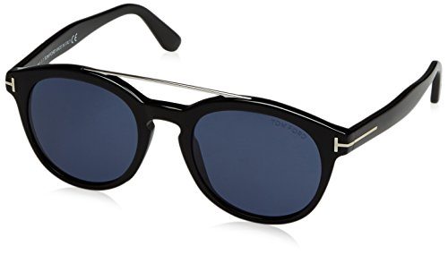 Tom Ford FT0515 01V 53 gafas de sol, Negro (Negro LucidoBlu), 53.0 Unisex Adulto