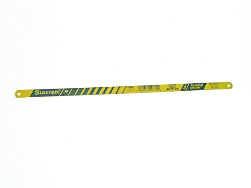 "Starrett KBS1232-2 Bi-Metal Unique High Speed Steel Safe-Flex Hacksaw Frame Blade, 0.025"" Thick, 32 TPI, 12"" Length x 1/2"" Width (Pack of 2)"