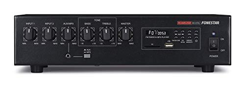 Fonestar Sistemas MA-61RU - Amplificador USB (60W) Color Negro