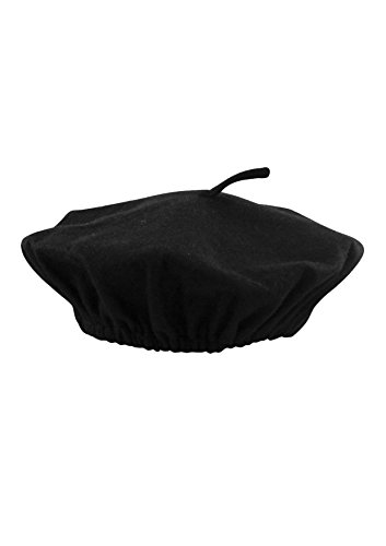 Men's Black French Beret Hat Fancy Dress Accessory. This Accessory is the Perfect Addition to Any of our Fancy Dress Costumes. One Size is Suitable for Most People.