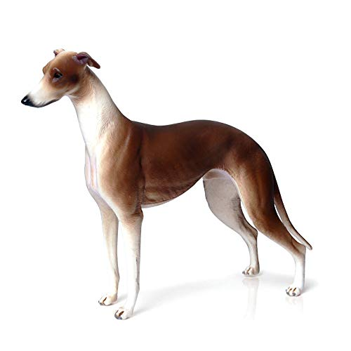 Dog Figurine Simulated Dog Realistic Plastic Animals for Collection Science Educational Prop (Brown Greyhound)