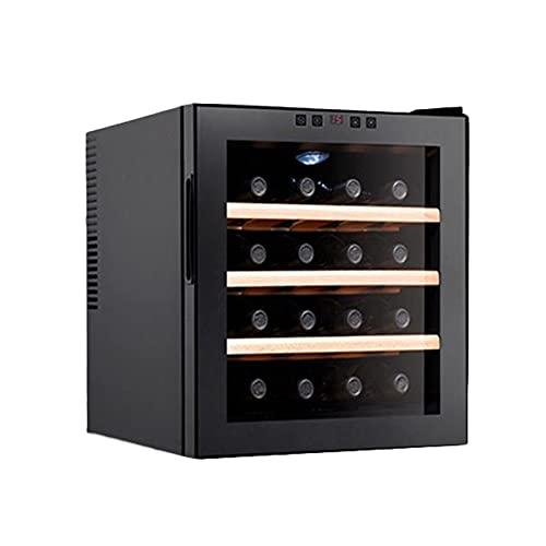 YCRD Vinoteca 16 Botellas, 48 litros de Capacidad, Temperatura Regulable, Panel táctl, Display Digital, luz LED, 105W [Clase de eficiencia energética B],Log Frame
