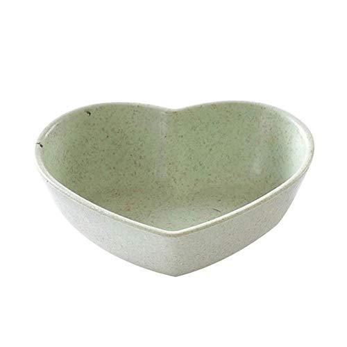 WPCBAA keuken liefde hart vorm tarwe stro kom azijn kruiden massief soja schotel saus zout snack kleine plaat