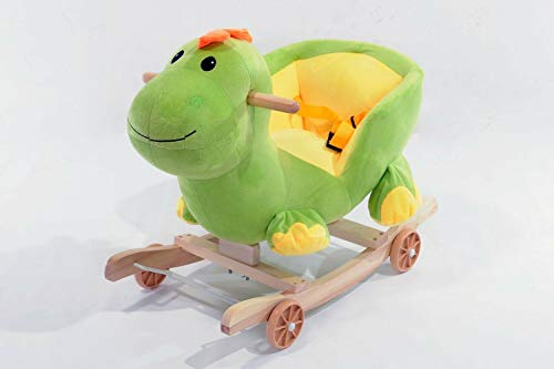 TSARLTD 2 IN 1 BABY MUSICAL ROCKING ANIMAL HORSE RIDE ON ROCKER CHAIR WALKER KID TOY (DINOSAUR)