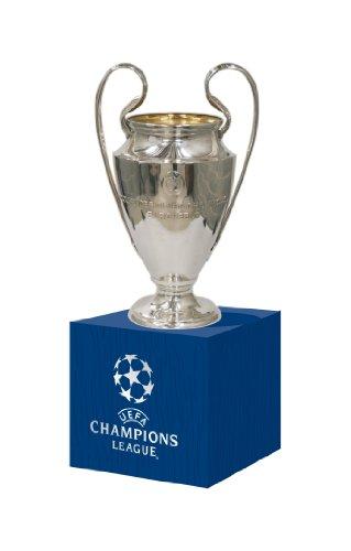 UEFA Pokalreplika Cl 45 Mm Auf Holzpodest UEFA-CL-45-HP, silber, 45mm