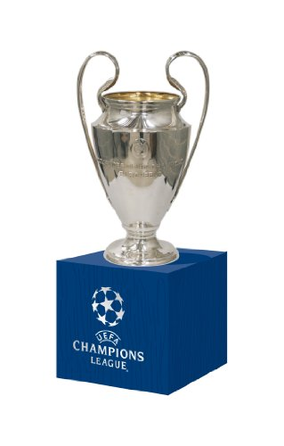 UEFA UEFA-CL-45-HP Réplica Liga de Campeones Encendido Madera Pedestal, Unisex-Adult, Metal, Trofeo 45 Mm