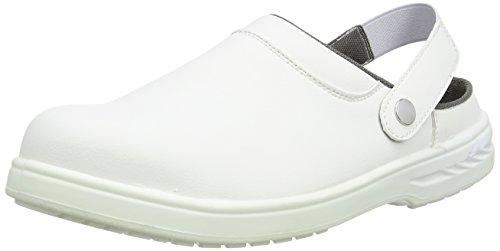 Portwest Steelite Safety Clog SB AE WRU, Chaussures de sécurité Homme - Blanc cassé - Avorio (Weiß), 35 EU EU
