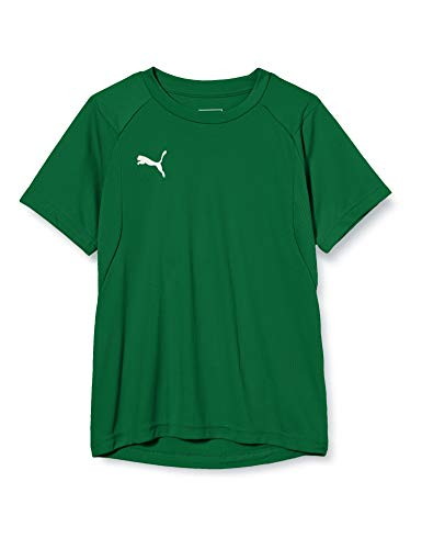 PUMA Kinder LIGA Training Jersey Jr T-shirt, Pepper Green White, 140