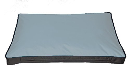 SAUERLAND Kissenbezug für Outdoor-Hundekissen 120 x 80 cm, grau (ohne Füllung)