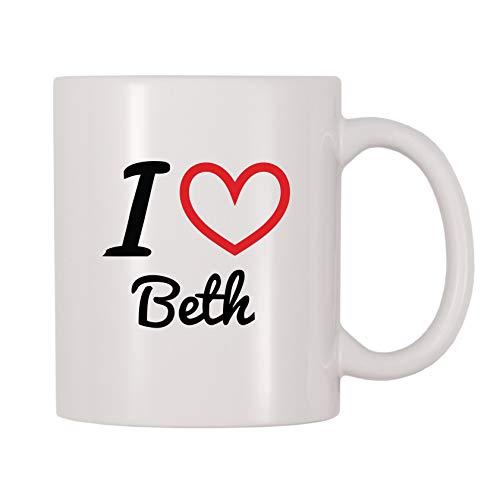 4 All Times I Love Beth Personalized Name Coffee Mug (11 oz)