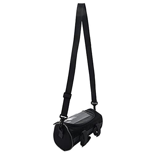 Fhdpeebu Auuen - Bolsa para manillar de bicicleta de montaña (5 L), color negro
