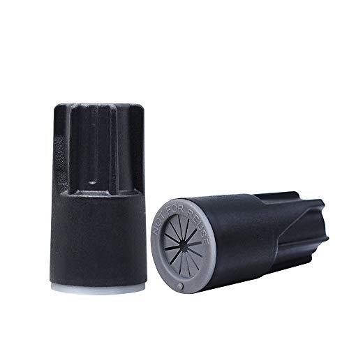 50Pack Waterproof Wire Connectors, Grease Cap Outdoor Electrical Nuts Caps, Black/Grey