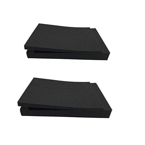 Almohadillas de Aislamiento para Monitor de Estudio, Espuma Acústica de Alta Densidad Aislamiento en Piezas Antivibraciones para Altavoces
