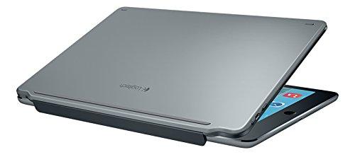Logitech Ultrathin - Tastaturen für Mobilgeräte (Kabellos, Bluetooth, Apple, iPad Air 2, Silber, Aluminium)