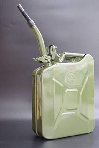 YUFHBDI Draagbare benzinemotor, verdikking, koudgewalste plaat explosiebeveiligde tankbarrel, 5 l, 10 l, 20 l, auto motorfiets, reservebrandstoftank diesel ketel met safty-sluiting