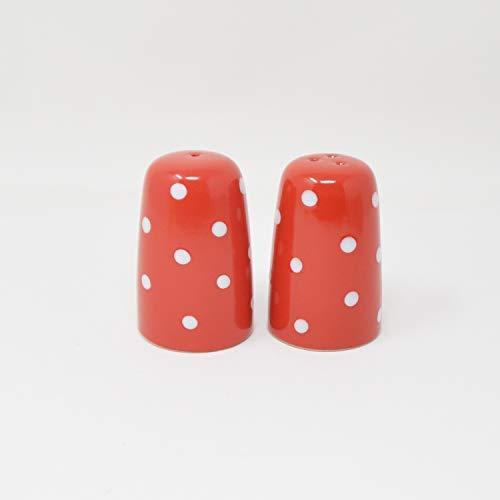 DRULINE DOTS Kombiservice Color: Salz/Pfefferstreuer 5 x 8 cm Rot/Weiß