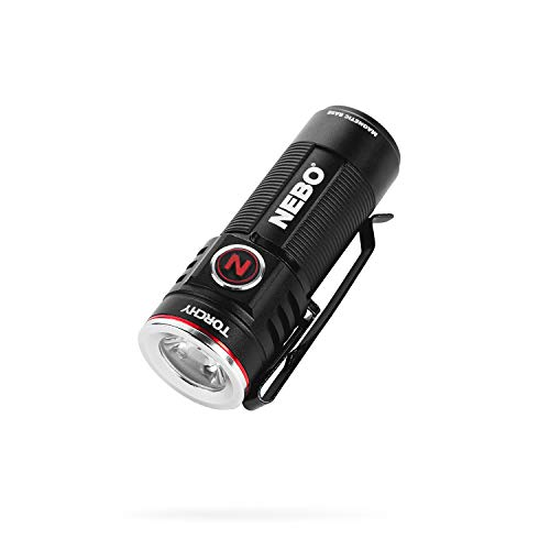 NEBO 1000-Lumen Pocket Sized Flashlight: 4 light modes plus turbo mode; water and impact resistant; power memory recall; rechargeable battery and MagDock cable included - 6878