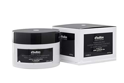 D'Bullón Profesional Crema Especial para Pies, Codos y Rodillas, Re-Equilibrante Súper-Hidratante, con Aceite de Almendras - 200 ml