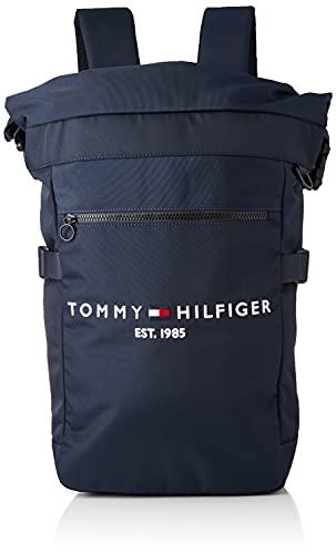 Tommy Hilfiger Men's TH Established Rolltop Backpack Backpack, Desert Sky, One Size