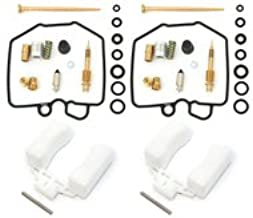 Deluxe Carburetor Rebuild Kit With Floats - Compatible with Honda CM400 1980-1981