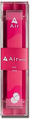 【公式】Air mini エアミニ 持ち運びシーシャ 電子タバコ ニコチンなし 300回使用可能 使い捨て (ライチ)