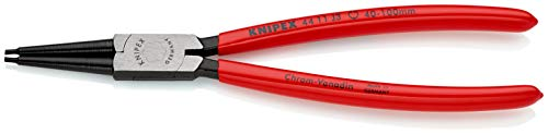 KNIPEX 44 11 J3 Sicherungsringzange für Innenringe in Bohrungen schwarz atramentiert mit Kunststoff überzogen 225 mm