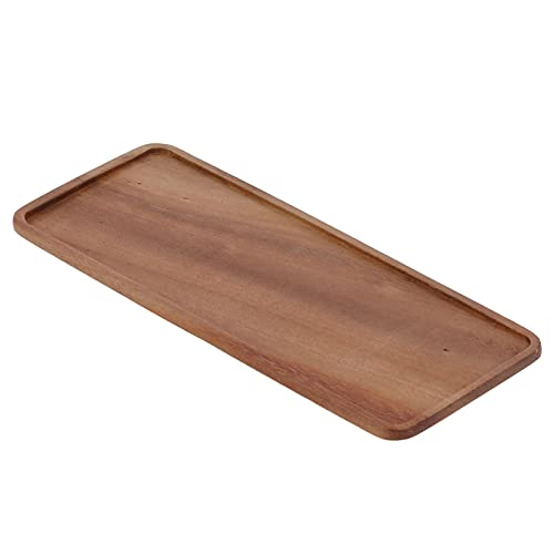 Bandeja de tetera, drenaje de madera de nogal Bandeja de madera Almacenamiento de agua para uso doméstico para amantes del té