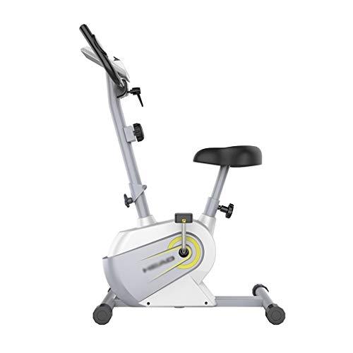 Vélos elliptiques Bicicleta Estática Vertical Bicicleta Estática con Cinturón para La Oficina En Casa Entrenamiento Cardiovascular En Bicicleta Estática (Color : Blanco, Size : 81 * 50 * 100cm)
