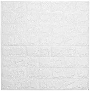 2pcs 70x77cm DIY 3D Wall Stickers PE Foam Safty Home Decor Wallpaper Wall Decor white