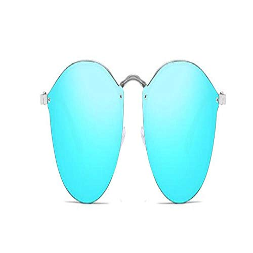 Gafas De Sol Polarizadas Fashion Ladies Cat Eye Sunglasses Brand Design Metal Legs Mirror Rimless Sun Glasses For Women Shades Oculos Gafas Uv400 C6