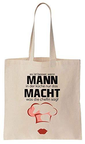Finest Prints Es Ist Besser, Wenn Mann In Der Küche Nur Das Macht Was Die Chefin Sagt. Chefhut Design Cotton Canvas Tote Bag