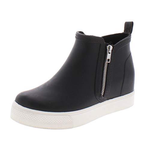 Steve Madden Women's Wedgie-RB Sneaker, Black, 9 M US
