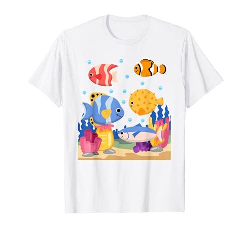 Pez Acuario Amante De La Cría De Peces Bajo El Agua Peces Camiseta