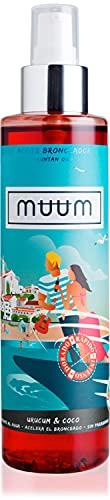 muum - Aceite Bronceador de Urucum y Coco - Acelerador del Bronceado con Antioxidantes Naturales, Hidrata y previene manchas y arrugas - Bronceado de tono dorado y natural - 200 ml.