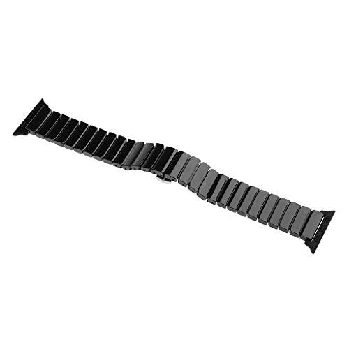 sharprepublic Keramikarmband Uhrenarmband 20mm Für Apple Watch IWatch Release 38mm - Schwarz
