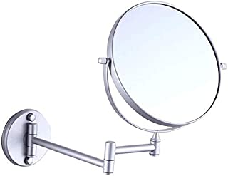 Makeup Vanity Mirror, Two-Sided Wall Mounted Beauty Mirror 3X Magnification Cosmetic Mirror 360° Swivel Extendable Bathroom Mirror,Gold, Bathroom