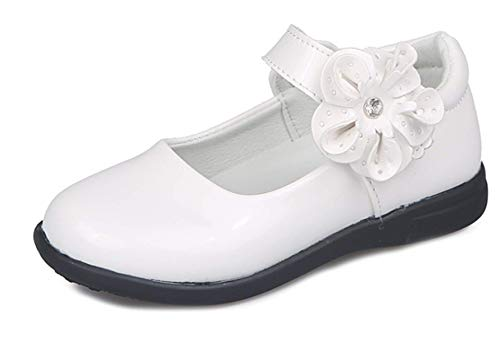 LCXYYY Kinder Mädchen Festlich Hochzeit Helles Leder Blume Tanzschuhe Studenten Ballerina Prinzessin Leder Sandalen Schuhe Absatz-Schuhe Sohlen Sandalette Karneval Party Flach Schuhe Pu Lederschuhe