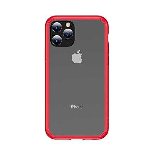 LWL House Case for iPhone 11 Pro Gingle Series Funda TPU + PC a Prueba de Golpes Durable (Color : Red)