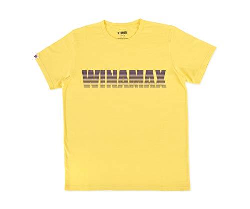 WINAMAX T-Shirt Homme Jaune Logo Miramax Violet - XL