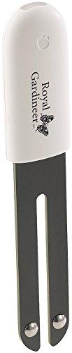 Royal Gardineer Zubehör zu Pflanzenwächter: 4in1-Pflanzensensor m. Bluetooth, App-Kontrolle, 1 Jahr Laufzeit, IPX5 (Bodenmessgerät)