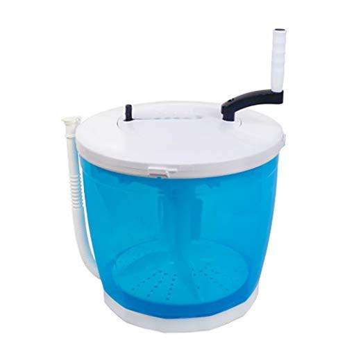 Mini-Waschmaschine, tragbare Eco-Waschmaschine, handbetriebenes Waschen, großes Fassungsvermögen von 2 Litern, reinigen, spülen und Schleudern