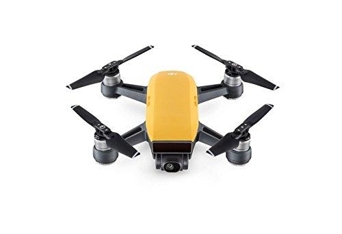 DJI Spark Combo - Mini-Drohne mit max. Geschwindigkeit von 50 km/h, bis zu 2 km Übertragungsreichweite, 1080p Videos mit 30 fps und 12 Megapixel Fotos - Gelb