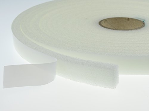 PU - Schaumstoffband Klebeband Weiß - 19 mm x 10 mm. Länge: 5 m Dichtungsband Türen, Fenster uvm.