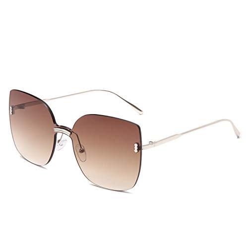 NJJX Gafas De Sol Sin Montura De Moda Para Mujer Gafas De Sol De Metal De Gran Tamaño Gafas De Sol De Ojo De Gato De Lujo Gafas Sombras 02