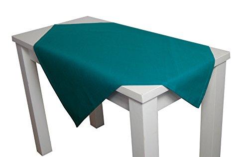 beties Farbenspiel Mitteldecke ca. 80x80 cm Baumwoll-Serie in Uni (Petrol)
