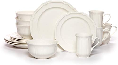 Mikasa Antique White 16-Piece Dinnerware Set, Service for 4